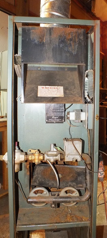 Antique Gas Furnace Gray Furnaceman Furnace Troubleshoot
