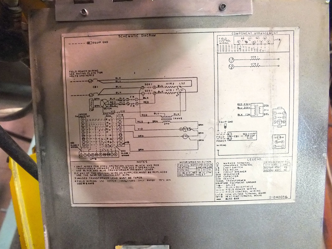 Older York Air Handler Wiring Diagram | Wiring Liry on
